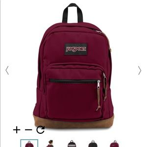Maroon red jansports backpack